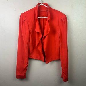 Alice + Olivia Coral Blazer Jacket Moto Small Flaw